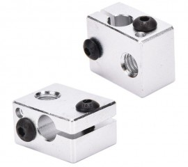 Aluminium Heat Block For 3D Printer V6 J-head Makerbot MK7/MK8 Extruders