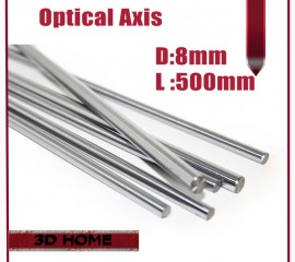 OD 8mm x 500mm Cylinder Liner Rail Linear Shaft Optical Axis chrome For 3D Printer Accessory 8mm linear shaft 500mm